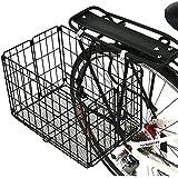 Axiom Folding Rear Pannier Basket Black
