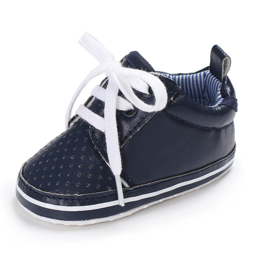 Lanhui_Sunny Baby Tie Soft Shoes Crib Footwear Baby Boys Girls Casual Shoes