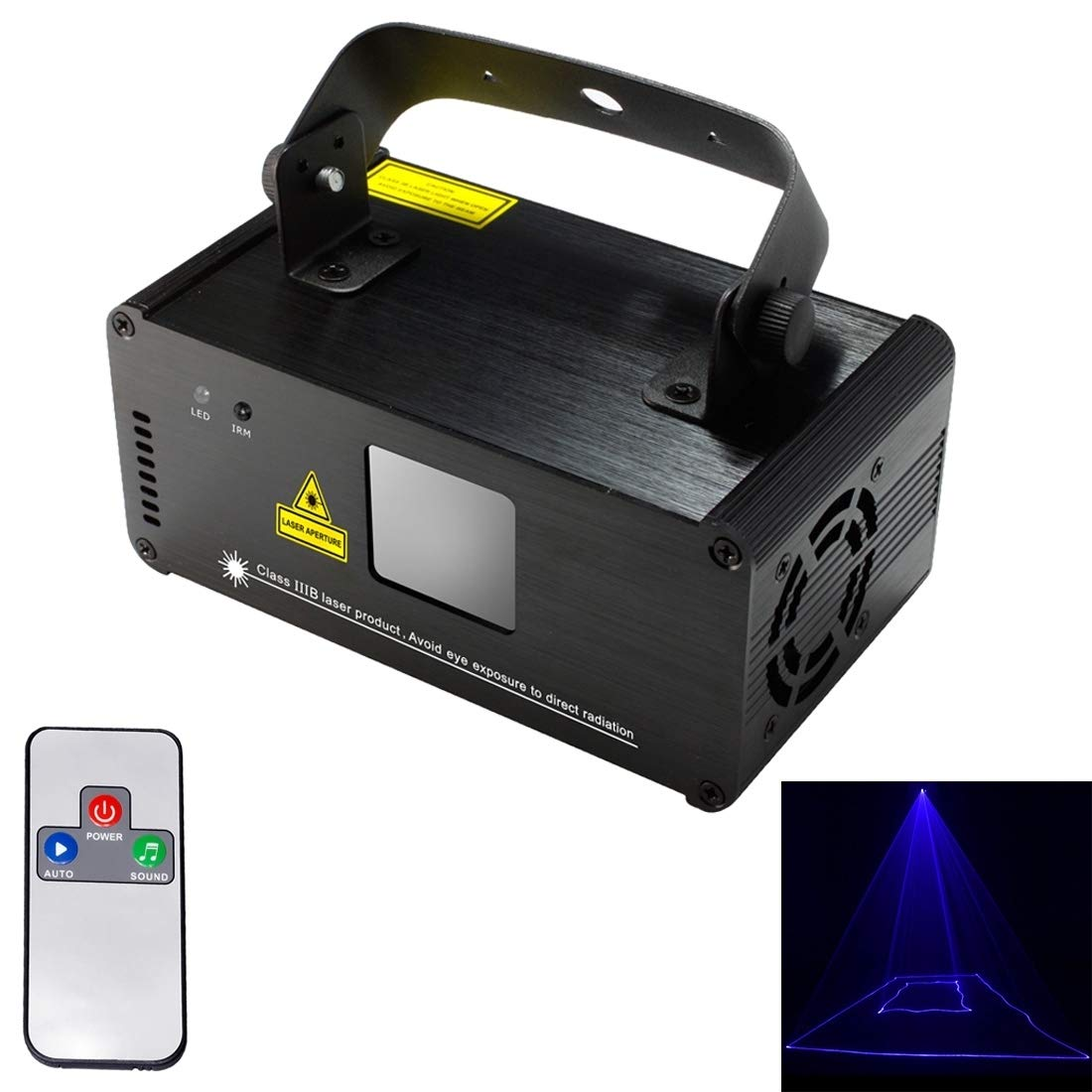 stage lighting DM-B500 18W LED Single Beam Projector with Remote Controller, Auto Run/Sound Control Modes, AC 100-240V by stage lighting (Image #1)