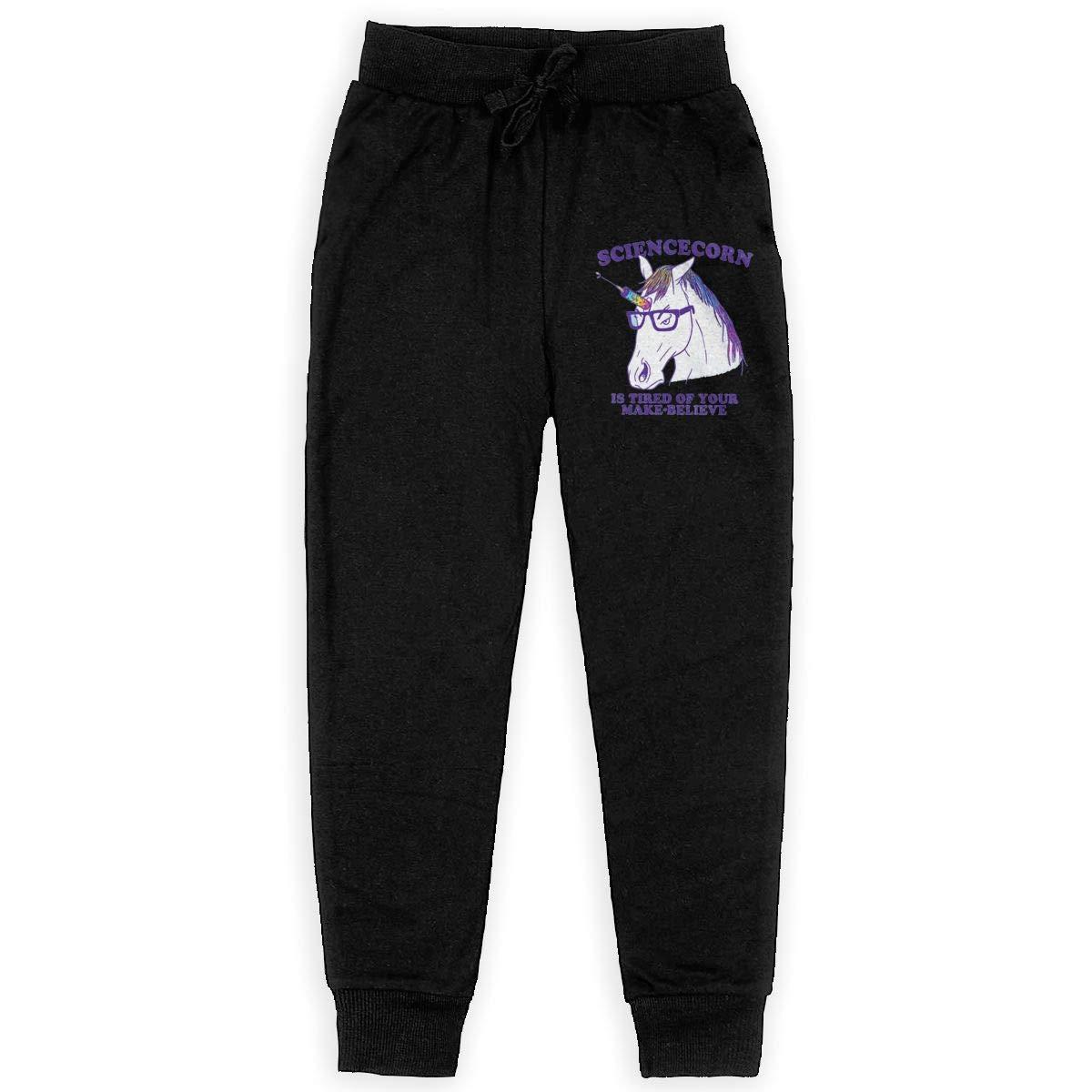 Dunpaiaa Sciencecorn Boys Sweatpants,Joggers Sport Training Pants Trousers Black