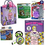 Crazy Cat Lady Gift Set (Bundle of 7 Items) - Crazy Cat Lady Gift Bag, Coloring Book, Catnip, Cat Toy, Cat Grass Kit, Candy & Tissue Paper