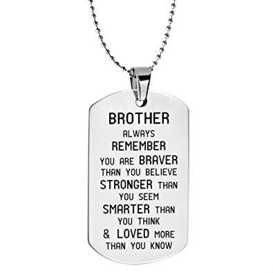 Alxeani Brother Birthday Gifts Keychain Big For Men Little Friend