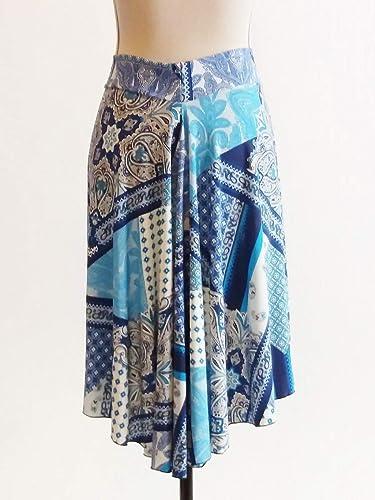 Fabulosa falda de tango en cascada con jersey estilo patchwork ...