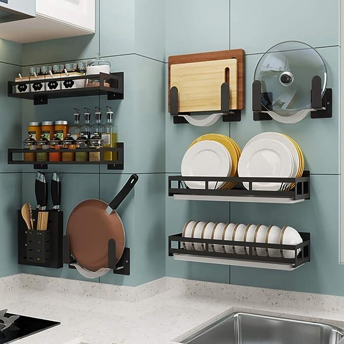 Estantes de cocina montados en la pared, combinación libre (repisa ...