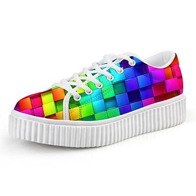 8304265159b0d Amazon.com | Showudesigns Fashion Lightweight Platform Sneakers ...
