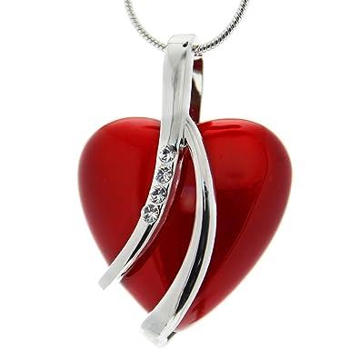 Collier swarovski coeur rouge