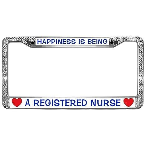 Amazon.com: GND RN Nurse Quotes Rhinestone Metal License ...