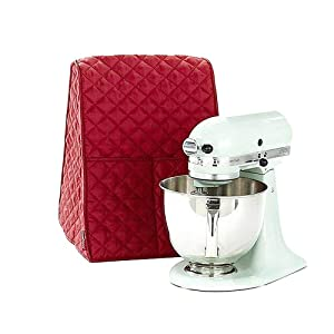 Stand Mixer Dust-proof Cover with Organizer Bag for KitchenAid Mixer to Keep Clean and Safe(Red)