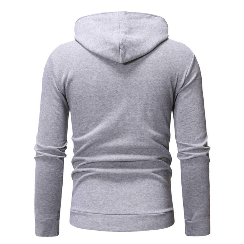 Cathalem Mens Long Sleeve Patchwork Slanted Zipper Pullover Casual Fleece Hoodies with Pockets