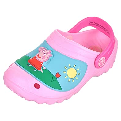 483fce5330f5 Peppa Pig Girls Pink Croc Sandals with Light (9