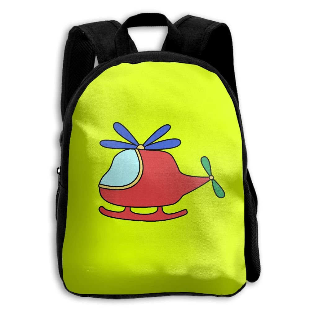 Cartoon Airplain Kids Backpacks Double Shoulder Print School Bag Travel Gear Daypack Gift