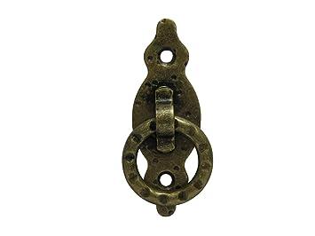 2 x M/öbelgriff M/öbelknopf M/öbelgriffe M/öbelkn/öpfe M/öbel Griff Messing br/üniert antik Ring