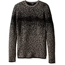 ARMANI JEANS mens Speckled Sweater, Beige, Large