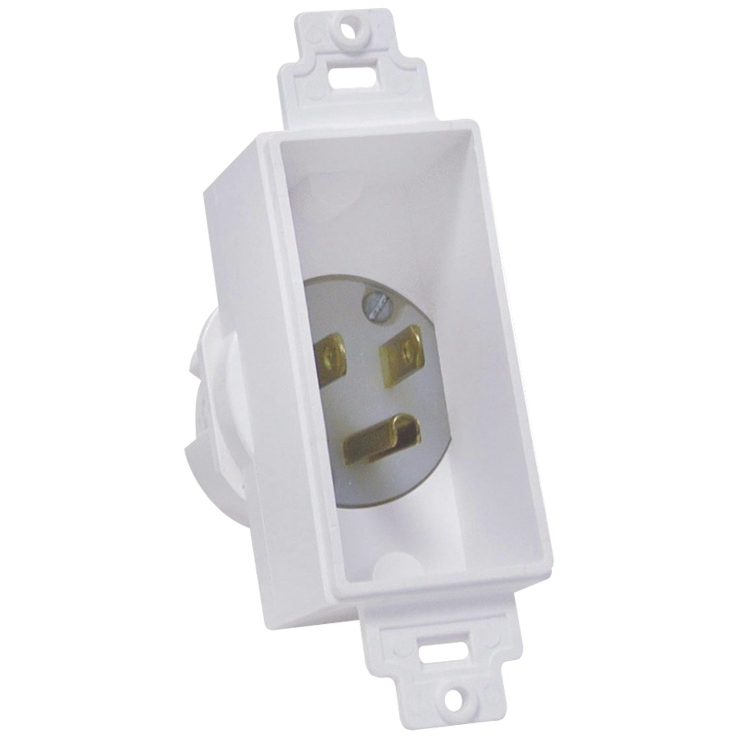 Home Wiring Wall Plate Midlite Mdt4642w Single Gang Decor Recessed Power Inlet Audio Theater