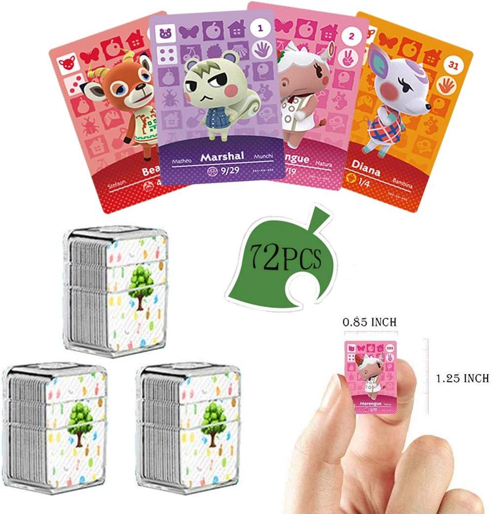 72 개 NFC 태그 게임의 카드를 희귀한 주민에 대한 동의 새로운 지평으로 크리스탈 저장 상자를 위해 적당한 스위치 | 라이트 스위치 | WII U | 새로운 3D(동물 SERIES1-4)