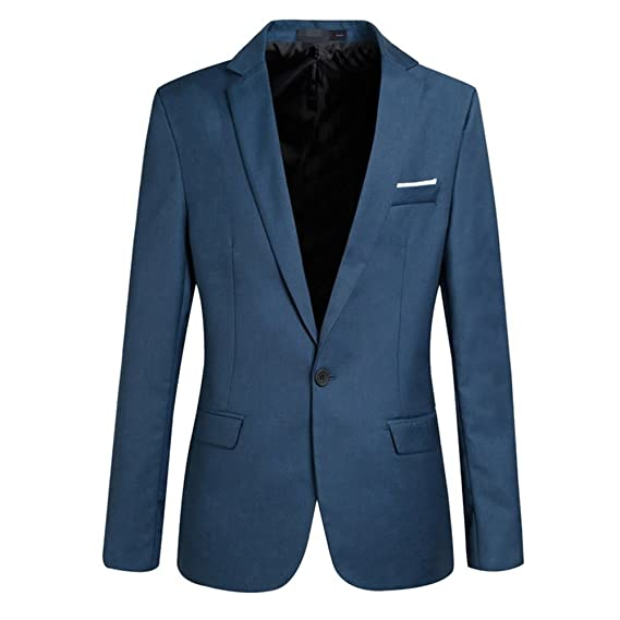 Wenyujh Homme Veste Blazer Slim Fit Manteau Jacket Costume