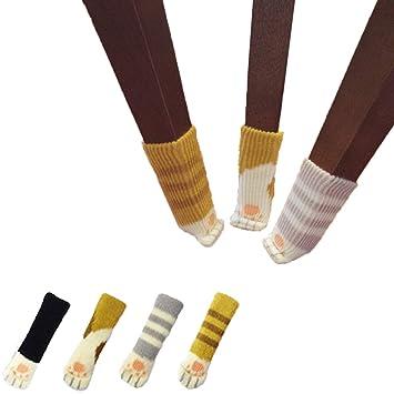 24 Calcetines(6 juegos) de Sillas, Con Diseño de Patas de Gato,