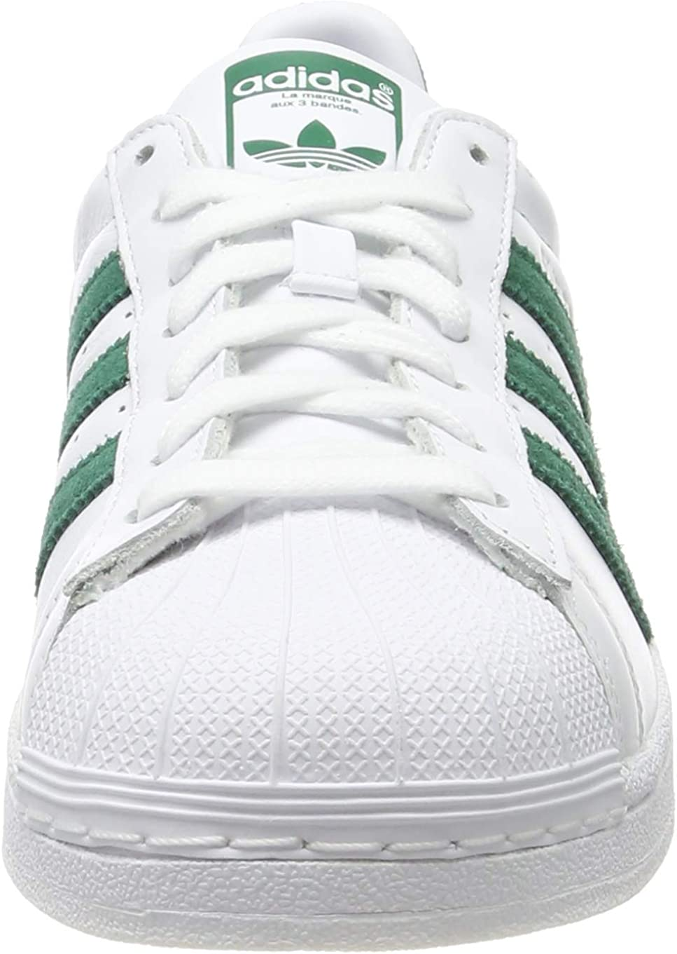 adidas Superstar, Chaussures de Gymnastique Homme Blanc Ftwr White Collegiate Green Ftwr White Ftwr White Collegiate Green Ftwr White