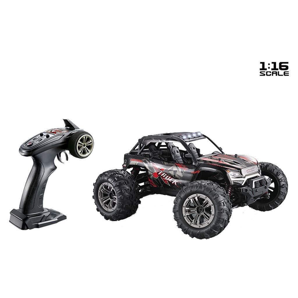 1:16 Scale High-Speed Off-Road Remote Control Truck, 32.31 mph/h,2.4GHz Off-Road RC Car, 2845 3200KV Brushless Motor,4WD Speed Control System (Red)