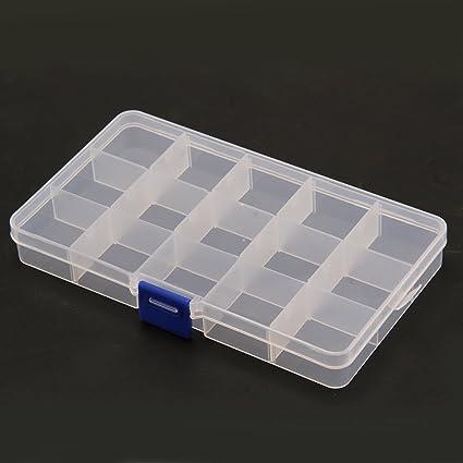 Xpork - Caja divisora de plástico Transparente con 15 ...