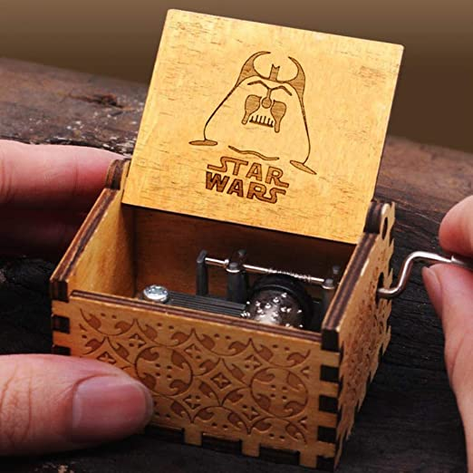 EPAWSWENLONG Caja de música de Madera Todos los Estilos Juego de Tronos de Star Wars Hecho a Mano Más Temas Musicales para cumpleaños, Star Wars: Amazon.es: Hogar