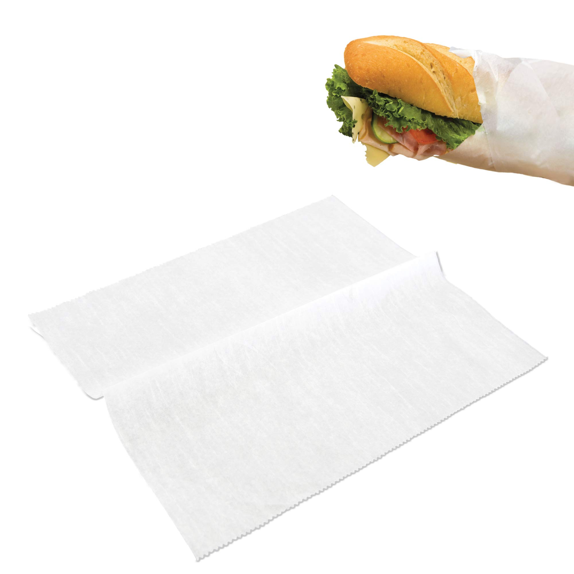 [500 Pack] Interfolded Food and Deli Dry Wrap Wax Paper Sheets with Dispenser Box, 12 X 10.75 Inch by Fit Meal Prep