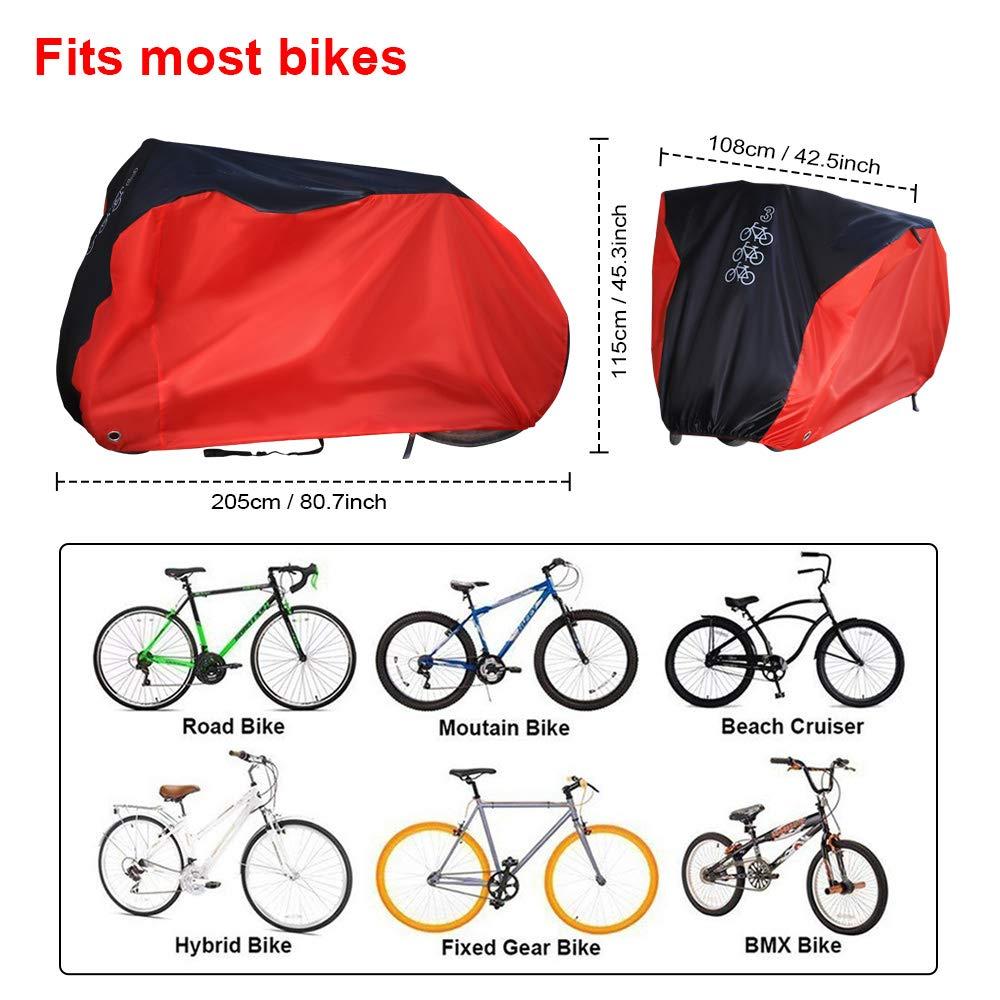 Fahrradgarage Abdeckplane Fahrradabdeckung Wetterschutz Faltbar Für 2 Fahrräder