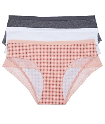 a629a1a43 St. Eve Women s 3 Pack Lace Trim Hipster Panties