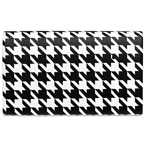 Evening CASPAR Ladies Houndstooth TA425 50ies White with Black Design Black Bag Clutch White Elegant and Retro YYprxwf