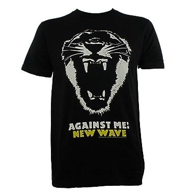 8d943e6dc Amazon.com: Against Me! Men's New Wave Slim Fit T-Shirt Black L ...