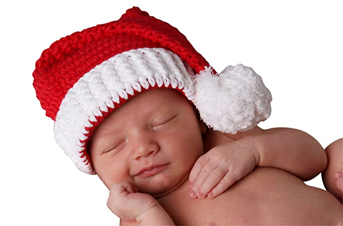 e9cf20c5f9a67 Amazon.com  Melondipity Red and White Classic Santa Stocking Hat ...