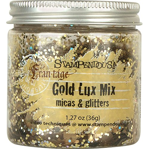 STAMPENDOUS FRL02 Lux Mica and Glitter Mix, Gold