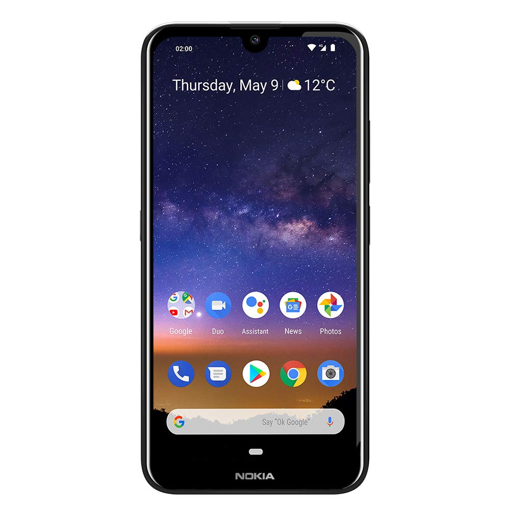 Nokia 2.2 - Android 9.0 Pie - 32 GB - Single SIM Unlocked Smartphone (AT&T/T-Mobile/MetroPCS/Cricket/Mint) - 5.71'' HD+ Screen - Black - U.S. Warranty by Nokia