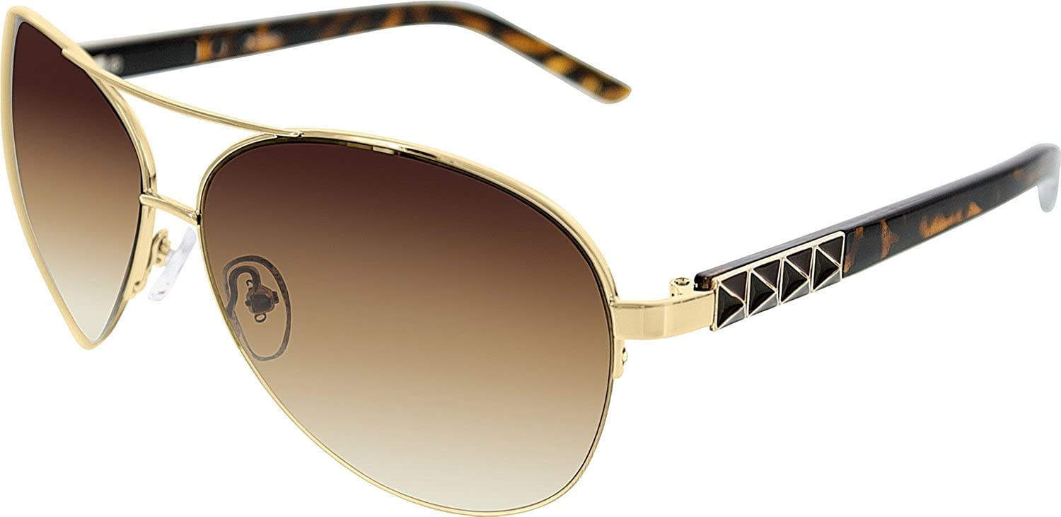 4528d3d8e9ede Amazon.com  Guess Men s GU7329-GLD-34 Silver Aviator Sunglasses  Guess   Clothing