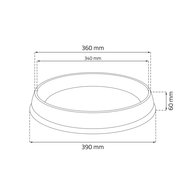 /Plato para maceta Blanco Efecto Terracota D 390/mm Extra alta/