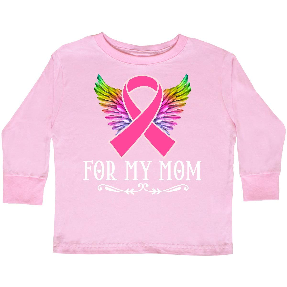 inktastic Breast Cancer Ribbon for My Mom Toddler Long Sleeve T-Shirt
