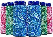 QualityPerfection Ultra Slim Can Cooler Sleeve, Beer/Energy Drink Blank Skinny 12 oz Neoprene Coolie - Perfect