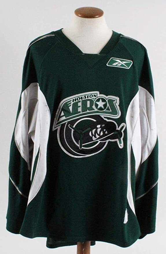Derek Gustafson Game-Worn Jersey Houston Aeros COA 100% Authentic Team -  Game Used NHL Jerseys at Amazon s Sports Collectibles Store 86fb0b648e3