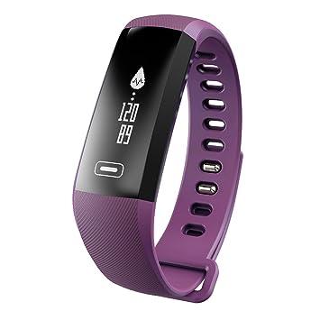 Kivors Pulsera Inteligente, Pulsera Actividad con Pulsometros, Rastreador de Fitness, Deportes Podómetro Activity Tracker con Monitor de Frecuencia ...