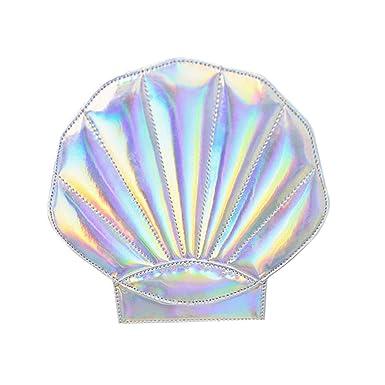 Amazon.com: Remeehi para mujer holograma piel perla Shell ...