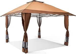 Suntime - Toldo para fiesta, bodas, portátil, para exteriores, con un lateral, 3, 6 x 3, 6 cm: Amazon.es: Jardín