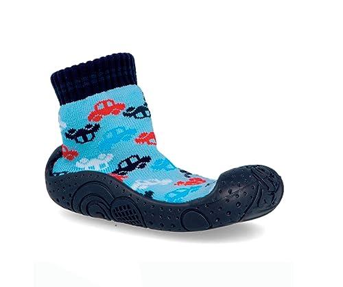 Calcetines con Suela de Goma para niños. Calcetines para Estar en casa: Amazon.es: Zapatos y complementos