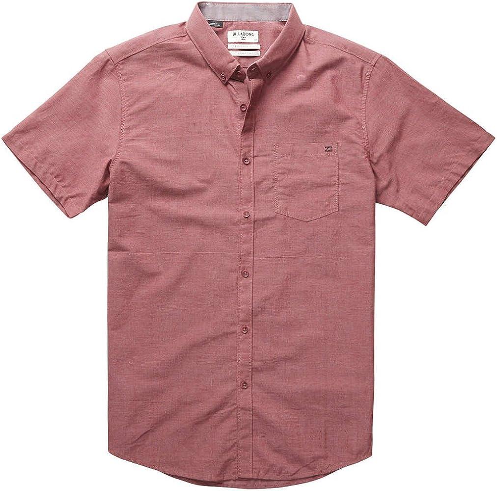 BILLABONG Hombres - Camisade Todo el día Chambray de Manga Corta ...