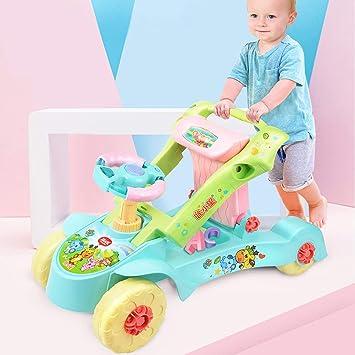 2 en 1 andadores de Bebe con Música y LED Evitar Que el bebé se ...