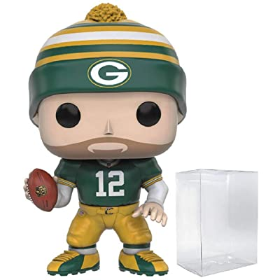 Pop NFL: Green Bay Packers Aaron Rodgers (Wave 3) #43 Vinyl Figure (Bundled with Box Protector): Toys & Games