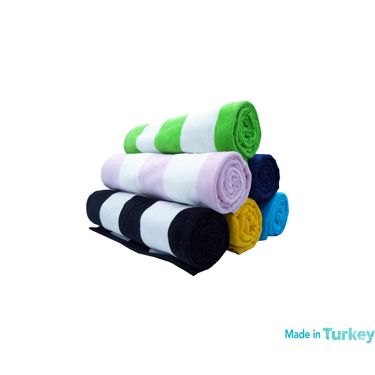 Pool 35x 60 Cabana Stripe Towel for Beach Black anatolian X-Large Bath 100/% Cotton Made in Turkey
