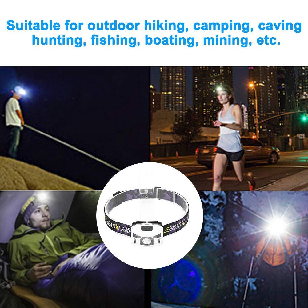 Linterna LED ultrabrillante de 3 vatios Blanco Pescar de Noche Acampar Ciclismo Nocturno Caminar patrullar Luz de Carga a Prueba de Agua con Carga USB para Explorar Cuevas etc. Cazar