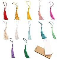 Nsiwem Mini Borla 120 Piezas Borlas de Flecos 13cm Mini Borlas Decorativo Borlas de Colores Sedosas Borlas Colgantes…