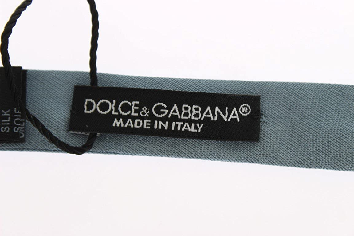 Dolce & Gabbana - Corbata de leña de seda, color azul: Amazon.es ...