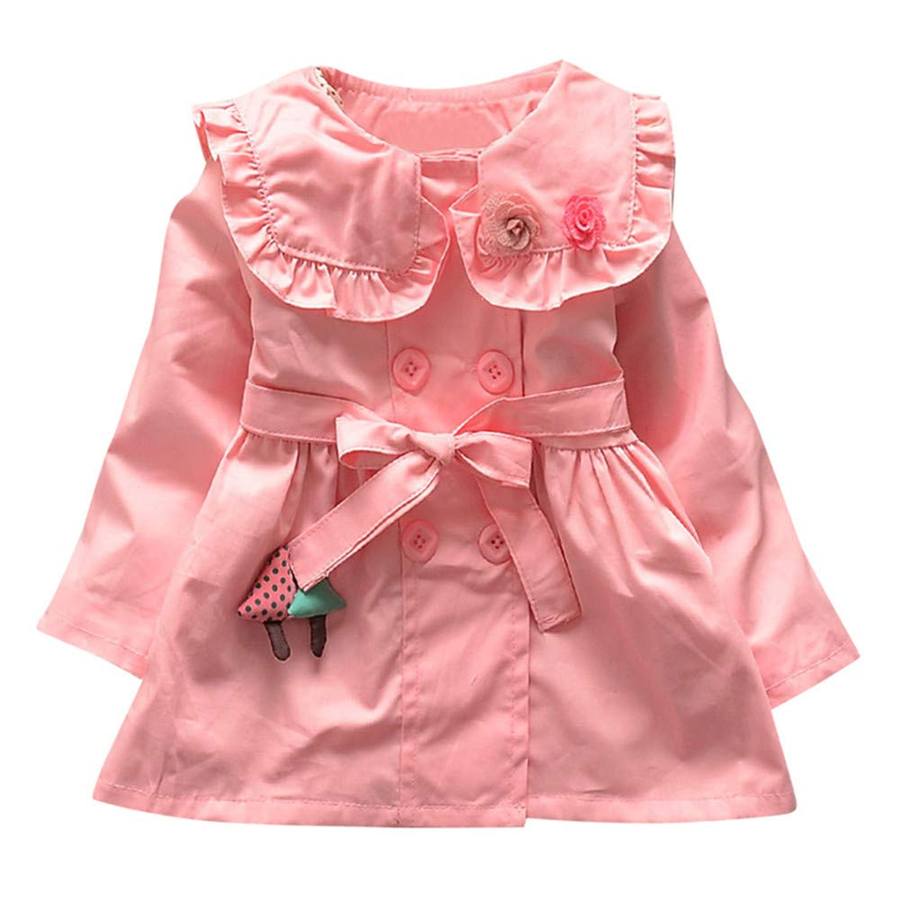 LIKESIDE Infant Toddler Baby Girls Outerwear Jacket Ruched Sweet Coat Clothes